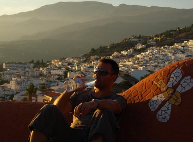 The Author, Richard Morgan, enjoying an Andalucian sunset